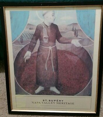 ST. SUPERY Napa Valley Meritage. Wine label  Lithograph.