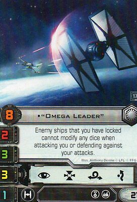 Omega Leader x1 Promo Card Star Wars X-Wing Miniature Game Summer 2017
