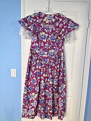 New Recollections costume Mattie dress size M (10-12) cotton Old West Victorian