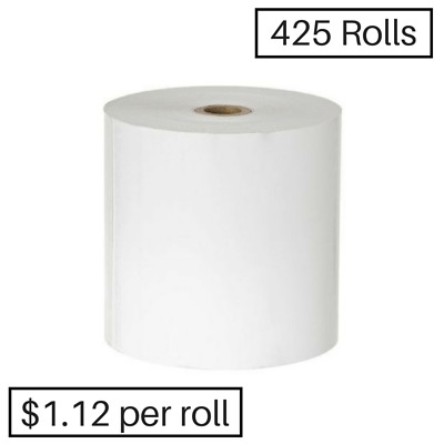 425  80x80mm Thermal Receipt & Cash Register Roll ($1.08 per roll)+25 free rolls