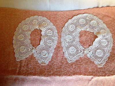 New, pair of lace collars, cotton white Victorian civil war costume