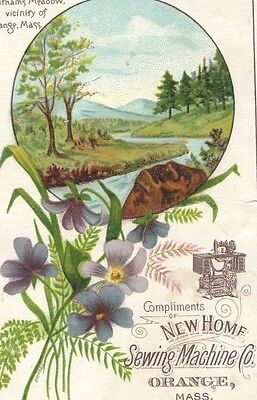 Victorian Trade Card Putnam's Meadow, Orange, Mass. NEW HOME Sewing Machine Co.