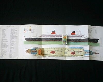 """CGT FRENCH LINE SS """"FRANCE"""" Cut out Fold Out Plan"""