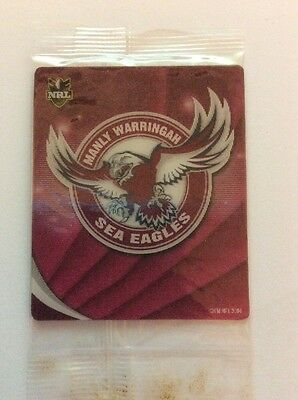 2010 Nrl Footy Plays Tazos Manly Sea Eagles Logo - New And Sealed