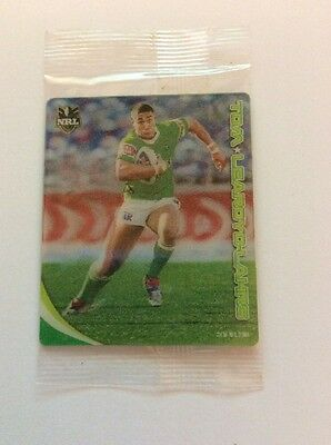 2010 Nrl Footy Plays Tazos Canberra Raiders Tom Learoyd-Lahrs - New And Sealed