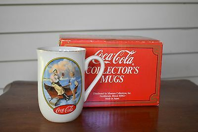 Coca Cola Collector's Mug Stein Cup Coke Museum Collections 1987 Japan Porcelain