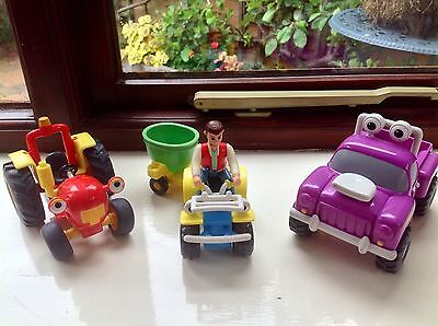 Tractor Tom Toy Figure - Tractor Tom Buzz Quad Bike & Rev Truck With Farmer Matt