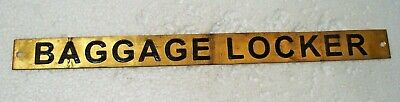 BAGGAGE LOCKER – Marine BRASS Door Sign -  Boat/Nautical - 12 x 1 Inches (16)