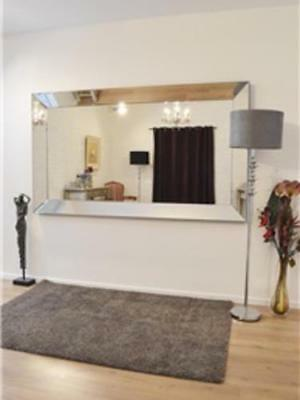Large Crystal Glass Wall mirror
