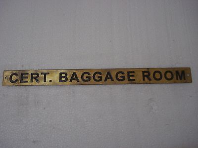 CERT. BAGGAGE ROOM – Marine BRASS Door Sign -  Boat/Nautical -12 x 1 Inches (48)