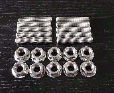 M8 X 40 Manifold Studs Double Ended & Nuts, A2 STAINLESS