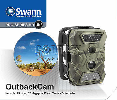 Swann - HD 12.0 MegaPixel Day/Night Portable Outback Security Camera *