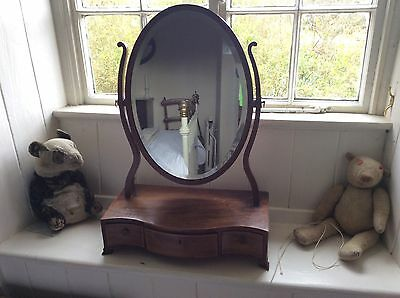 Antique Regency  Dressing Table Mirror Swing Mirror Oval