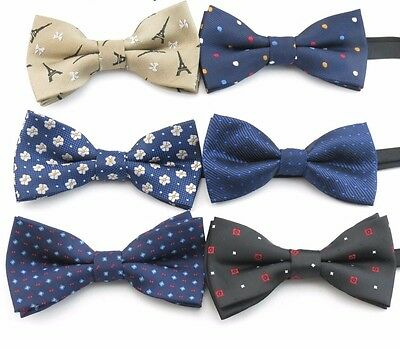 New Baby Toddler Boys Pre Tied Jacquard Weave Patterned Bow Tie Dickie Bow *UK*