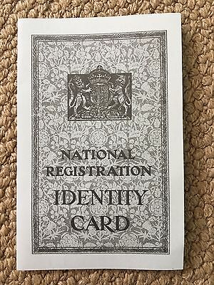 Reproduction British National Registration Identity Card