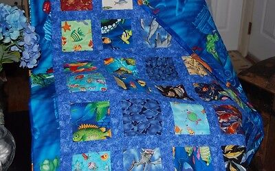 Handmade 100% Cotton  Quilted Baby/Child Blanket