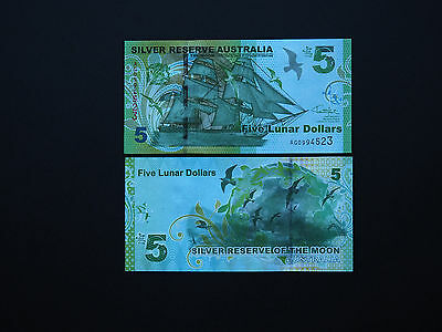 Australia  $5  Silver Reserve Notes  2015  -  Excellent Quality In Mint Unc
