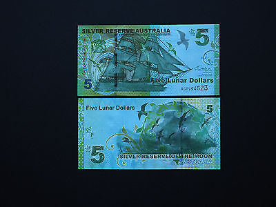 Australia Banknotes  $5  Silver Reserve Issue  2015 -  Quality Notes  Mint Unc