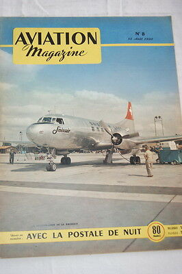 Aviation Magazine N°8- 1950-La Postale De Nuit Pegoud Looping  Nordatlas