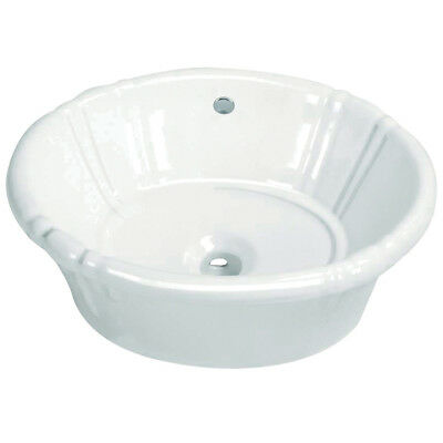 Kingston Brass Vintage Vitreous China Oval Vessel Bathroom Sink with Overflow