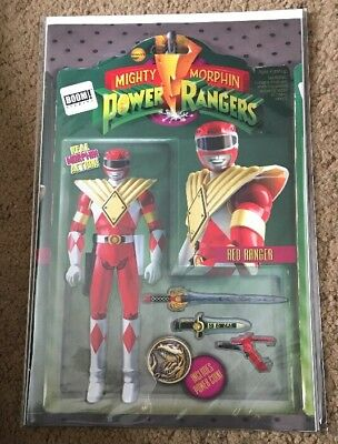 MIGHTY MORPHIN POWER RANGERS Action Figure Variant RED RANGER DRAGON SHIELD! #8