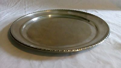 "12.5"". Silver plated serving tray."