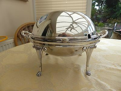 Art Deco Silver Plated Dome Roll Top Breakfast Server/warmer    #1280460/466