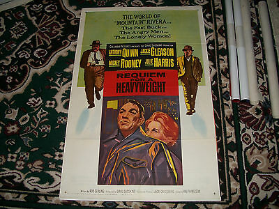 Original 1964 REQUIEM FOR A HEAVYWEIGHT One Sheet Movie Poster 41x27 RARE