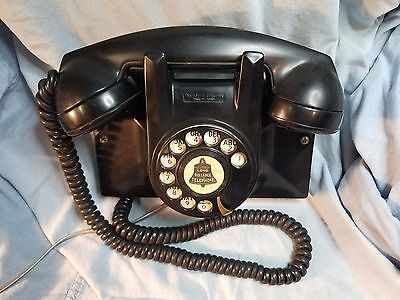Antique Northern Electric Wall Telephone with Great Design. Working Properly.