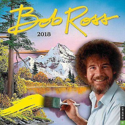 Bob Ross - 2018 Wall Calendar - Brand New - Joy Of Painting 333612