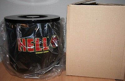 HELL Energy Drink Unused ICE BUCKET BLACK Man Cave Bar