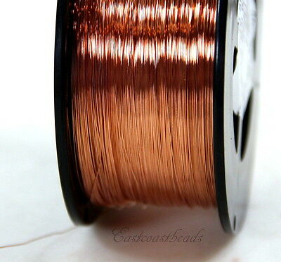 Copper Wire, 28 Gauge, Dead Soft, Copper Jewelry Wire, Craft Wire, 50 Feet, 011