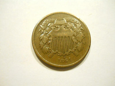 1864 U.s. 2 Cent Coin