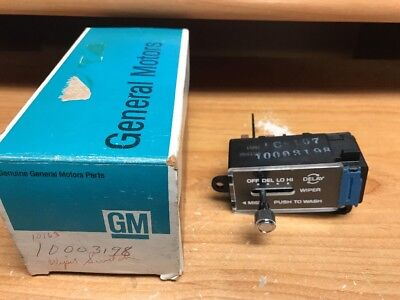 NOS GM 1978-1979 Pontiac Lemans Grand Prix Pulse Delay Windshield Wiper Switch