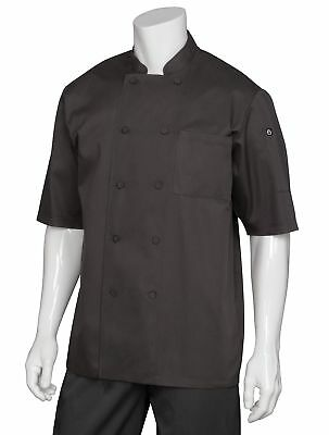 Chef Works Men's Montreal Cool Vent Chef Coat (JLCV) Black 2X-Large