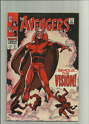 AVENGERS #57 OCT1968 VERY GOOD OR BETTER 1st APPEARANCE OF THE VISION