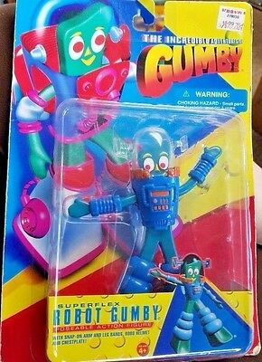 1996 Gumby Figure Toy in Robot Outfit MIP Trendmasters