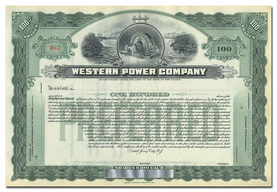 Western Power Company Stock Certificate