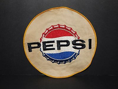 Vintage Pepsi Round Bottle Cap 7 Inch Jacket Patch