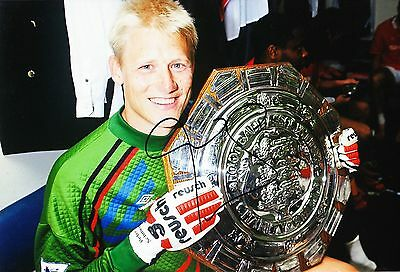 Peter Schmeichel Signed 12X8 Photo Manchester United GENUINE AFTAL COA (9113)