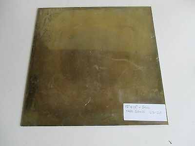 "12"" X !2"" Square Brass Plate Cz120 For Longcase Clock Dial"