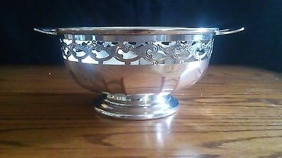 Small vintage silver plated fruit bowl