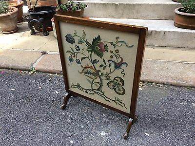Edwardian Mahogany Framed Tapestry Fire Screen