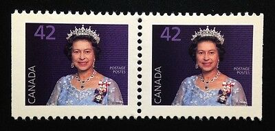 Canada #1357as MNH, Queen Elizabeth II Definitive Booklet Pair of Stamps 1991