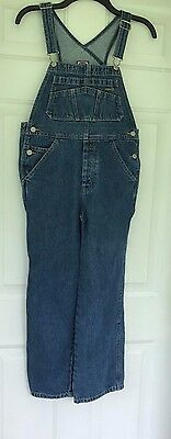 Women's or Boys Y Old Navy Blue Jeans Carpenter Bib Overalls Denim Blue Size 10
