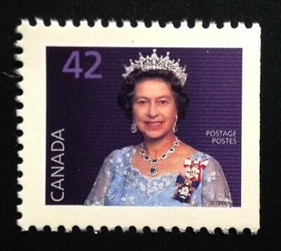 Canada #1357as Right CP MNH, Queen Elizabeth II Booklet Pair of Stamps 1991
