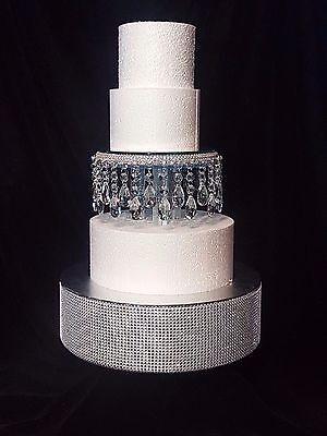"Crystal droplet Cake Separator  6""  8"" 10"" diameters - scroll to see video clip"