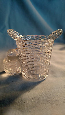 LG Wright #77-129 Chick Basket Toothpick Holder in Crystal