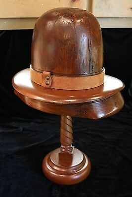 Antique Western 10 Gallon Hat Form with Stand