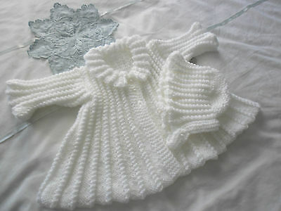 Handknitted Baby Coat And Hat Set, Matinee Coat Set New Baby Gift Set
